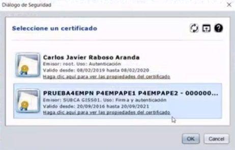 certificado de segunda persona